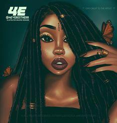 Cartoon Drawing Tips - Drawing On Demand Sexy Black Art, Black Love Art, Black Girl Art, My Black Is Beautiful, Art Girl, African American Art, African Art, Natural Hair Art, Natural Hair Styles