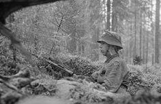 Yksinäinen vartiomies kesällä 1944.