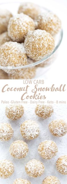 Low Carb Coconut Snowball Cookies - Kit's Coastal