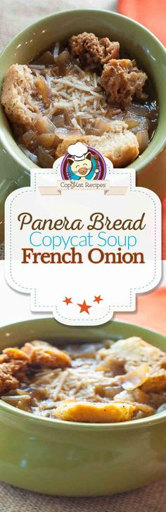 Panera Bread Bistro French Onion Soup Copycat