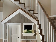 homedecor stairs This is the cutest playhouse weve ever seen! Under Stairs Playroom, Under Stairs Playhouse, Playroom Ideas, House Plans And More, House Floor Plans, Dream Home Design, House Design, Dog Bedroom, Basement Inspiration