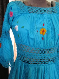Vintage Wedding style Mexican Dress by ReynasCloset on Etsy, $49.00