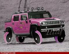 Hello Kitty Hummer. Not sure if it actually exists or if it someone playing with photoshop (I'm thinking the latter) but I love the concept!