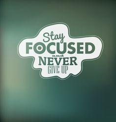'Stay Focused And Never Give Up' -  Focus is vaak de grote valkuil voor ons ondernemers, want wij denken in kansen en mogelijkheden! Focus op je doelen en voorkom dat je alles wilt doen en zelf gaat uitvoeren. Dus: 'Verdien geld door uit te besteden' #online #ondernemen #ondernemer #focus #doelen #doelstelling #succes #success #zelfstandig #professional #zzp #business #bedrijf