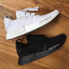 """Follow @hypebeastkicks: Images recently surfaced, showing new iterations for the @adidas NMD R1 Primeknit """"Japan Boost"""" with fan favorite colorways in """"Triple White"""" and """"Triple Black."""" Visit the link in the bio for more details. Photo: @letsboost"""