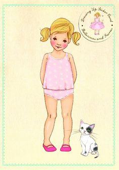 Petite Louise   unieke kaarten en posters   Belle & Boo `Stickerkaart Ava Fairy`