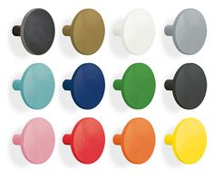 Steel Disc Wall Hooks in Colors, Sets of Two or Three - Steel Disc Wall Hooks & Snooter-doots - Kids - Room & Board