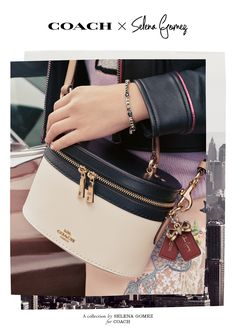45f79cbdfd0  CoachxSelena a collection by Selena Gomez for Coach. Coach Leather  Handbags, Coach Handbags