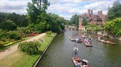 View from Clare College bridge Cambridge July 2015