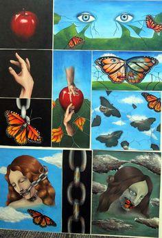 Top Art Exhibition - Painting » NZQA Amazing Artwork, Cool Artwork, Art Academy, Level 3, Student Work, Art Boards, Surrealism, Original Artwork, Art Photography