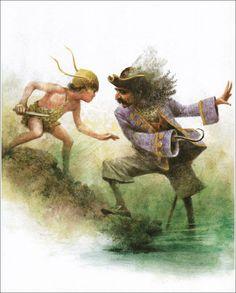 Robert Ingpen's Illustrations for 'Peter Pan and Wendy' - Book Art Illustrations Peter Pan, J M Barrie, Children's Picture Books, Captain Hook, Children's Book Illustration, Art Illustrations, Children's Literature, The Little Mermaid, Childrens Books