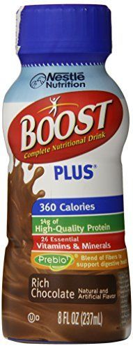 Boost Plus Complete Nutritional Drink, Rich Chocolate, 8 Fluid Ounce (Pack of 24) * Check out this great product.