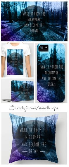 Wake up from the nightmare print, Phone covers, Pillows, Bags, T-shirt and more Purchase: http://society6.com/samthorpe Follow me: www.facebook.com/pages/ST-Illustrations/292448024146314
