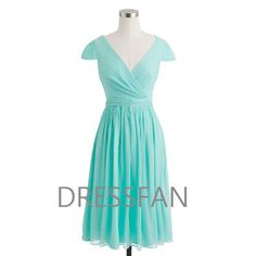 Bridesmaid dress/knee-length/full-length/V-neck/cap sleeves/wedding/party/homecoming/mint on Etsy, $67.91 AUD