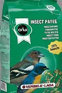 Orlux Insect patee is a complete diet for all insect-eating birds. It is also an additional food for tropical and native birds, small and large parakeets, parrots, fig parrots and lories. Insect patee is very rich in animal proteins and dried insects, ant eggs, Mexican larvae. Minimum 25 % insects. Thanks to its high content dried insects, this patee is perfectly suitable during the breeding season of British finches.