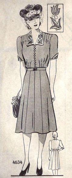 1930s Plus Size Dress Pattern
