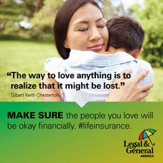 Make sure the people you love will be okay financially if something happens to you. #getlifeinsurance