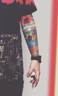 Ed sheeran's tats- They're so pretty