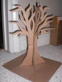 Idea for cardboard trees. Make different kind though