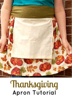 Easy Thanksgiving apron.  Love the built in hand towel idea.