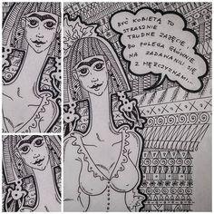 Być kobietą... Cytat Joseph Conrad #doodleart #josephconrad #doodlestyle #womaninart #fridakahlo #fridakahloinspiredme #ilovefridakahlo❤️