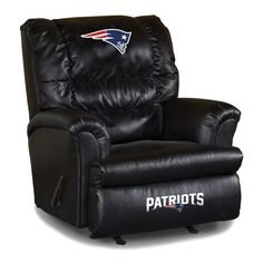 The New England Patriots Leather Big Daddy Recliner is an awesome Patriot Fan Cave Reclining Chair!