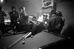 <b>Not published in LIFE.</b> Inside the Hells Angels' San Bernardino clubhouse, 1965.