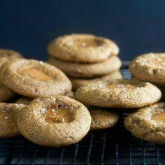 Salted Caramel Gingerbread Thumbprints