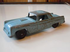 Tootsietoy Vintage Blue Ford Underbird Toy Car