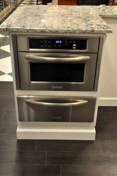 KitchenAid mircowave with slow cook warming drawer below.