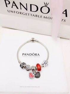 50% OFF!!! $159 Pandora Charm Bracelet Red. Hot Sale!!! SKU: CB02049 - PANDORA Bracelet Ideas
