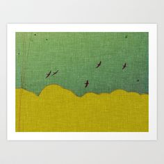 migratory thoughts Art Print by Laura Moctezuma - $15.00