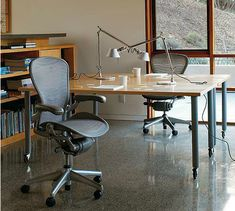 Aeron Chair ­PostureFit, designed by Don Chadwick and Bill Stumpf for Herman Miller.
