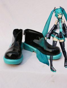 VOCALOID Hatsune Miku Cosplay Shoes Custom Made by Coszone on Etsy