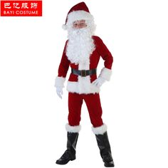 2017 New Seiko Secret Cosplay Christmas Luxury Golden Velvet Santa Claus Children Costume Top Quality One Set Christmas Clothing #Affiliate