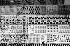 """We are not your average piano-style format."" B image of an Buchla modular synthesizer Foley Sound, Vintage Synth, Vintage Keys, Music Machine, Studio Gear, Studio Setup, Jazz Guitar, Video Wall, Interactive Design"