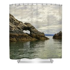 The Arch Of Gull Island Shower Curtain featuring the photograph The Arch On Gull Island by Phyllis Taylor