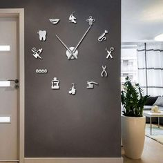 Looking for the ideal dental wall arts or dental Accessories to express yourself? Come check out our exclusive selection & find unique Dental Accessories, Dental Posters, Wall Art For Dental Office, Tooth Shaped Wall Clock and more. Clinic Interior Design, Design Salon, Clinic Design, Modern Interior Design, Diy Design, Design Ideas, Dental Art, Dental Office Design, Office Wall Design