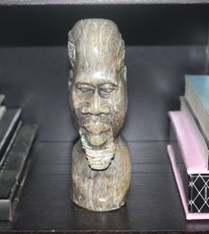 Antique Mid Century African Shona Carving, African Verdite Tribal Bust Tribal, African Bust, Tribal Decor, Antique Alchemy on Etsy, $90.20 CAD