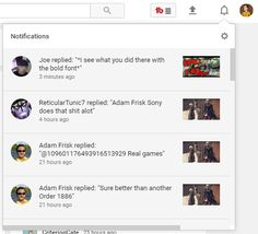 Image result for youtube notifications