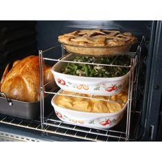Maximize the space in your oven with this 3-Tier Oven Companion!