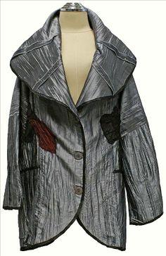 AKH Fashion Lagenlook Jacke Blazer gecrasht XXL Mode in silber bei www.modeolymp.lafeo.de