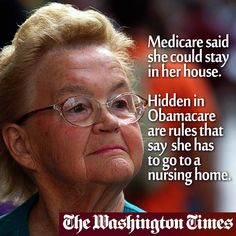 Obamacare Cuts Home Healthcare for Millions of Seniors - As 2014 unfolds, the most vulnerable senior citizens — those who receive home health care services — are about to learn they are out of luck. Obamacare opens a trap door under them, leaving this elderly population in freefall http://www.washingtontimes.com/news/2014/feb/28/weber-obamacares-punch-to-home-health-care/#ixzz2ureQF6Qt