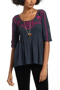 Rilievo Embroidery Top #anthropologie
