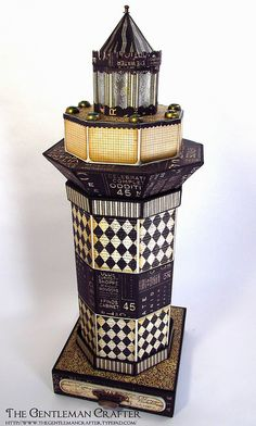 The Gentleman Crafter: Photo Album Of My Projects amazing lighthouse,HANDMADE, with a book inside!!!