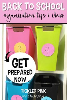 Get your classroom prepared and organized for back to school with these classroom tips and ideas! I'm sharing how I use a classroom number system, how I manage student behavior, and more! Read this post to get the ideas; this is so helpful for new teachers!