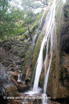 Rose Valley Falls - Pictured - Many more waterfalls at the link.  This section encompasses waterfalls found as far north as Santa Barbara County, as far south as San Diego County, and as far east as San Ber...
