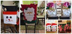 Vídeo tutorial aprende cómo hacer lindos cubre sillas navideños en fieltro ~ Manoslindas.com Ladder Decor, Gift Wrapping, Crafts, Home Decor, Christmas Ornaments, Throw Pillows, Sun, Christmas Angel Ornaments, Christmas Patterns