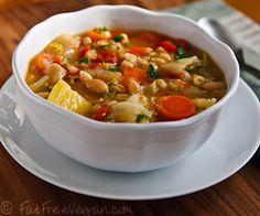 Vegan Irish White Bean and Cabbage Stew