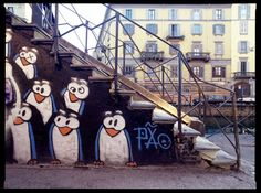 Penguins by Pao | Navigli canals | Milan